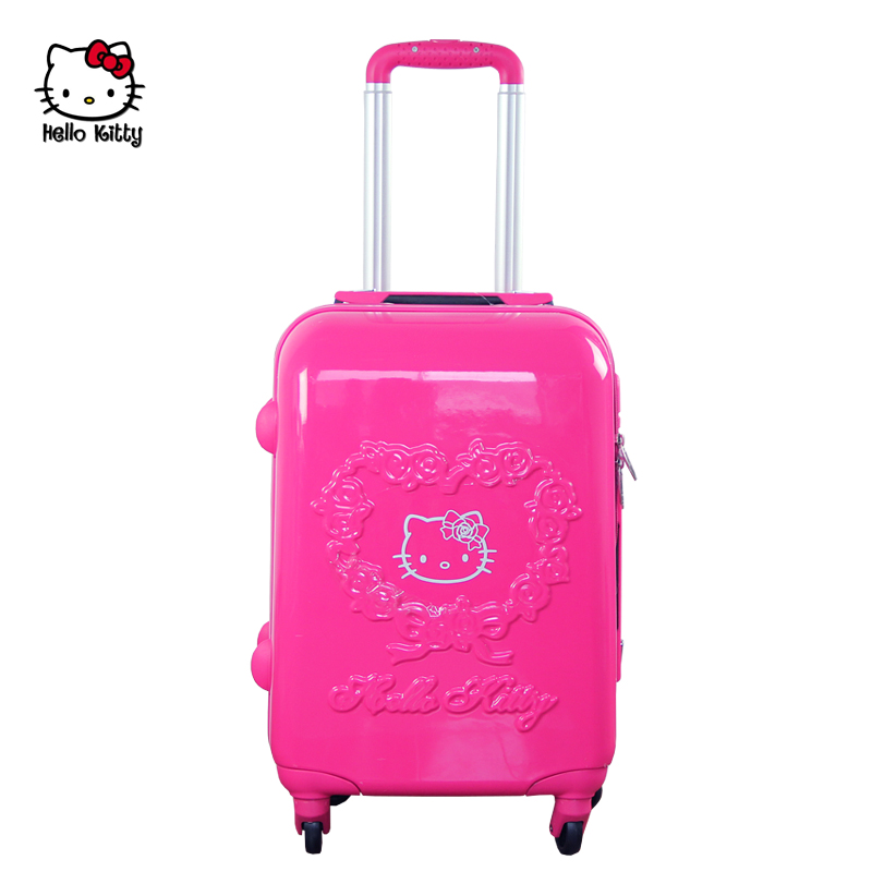 Get Quotations O Kitty Suitcase Caster Travel Luggage Trolley Bag Female Board Chassis Drag