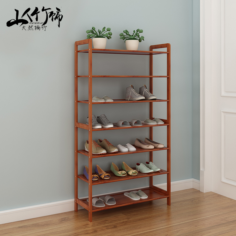 Hermit bamboo decorative bamboo bamboo shoe shoe multilayered wood dust oxford shoe storage rack shelf bookcase simple specials