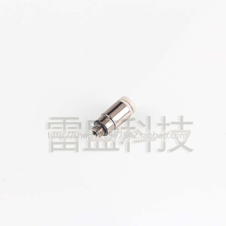 Hexagon head directly connector kjs 06-m5 mini straight pipe fittings
