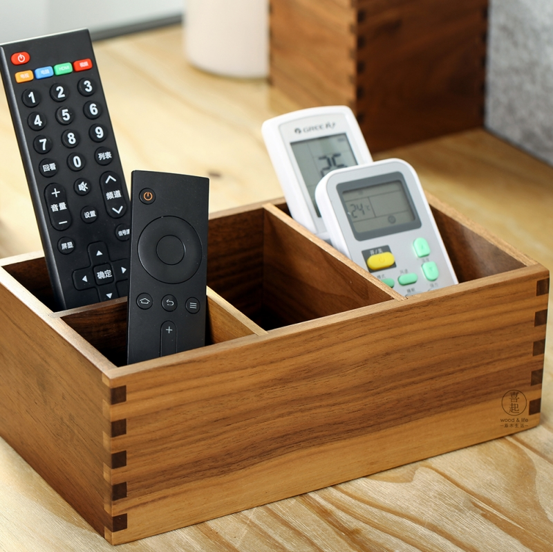 Get Quotations Hi Play Walnut Wood Desktop Remote Control Storage Box Wooden Cosmetic Finishing Debris