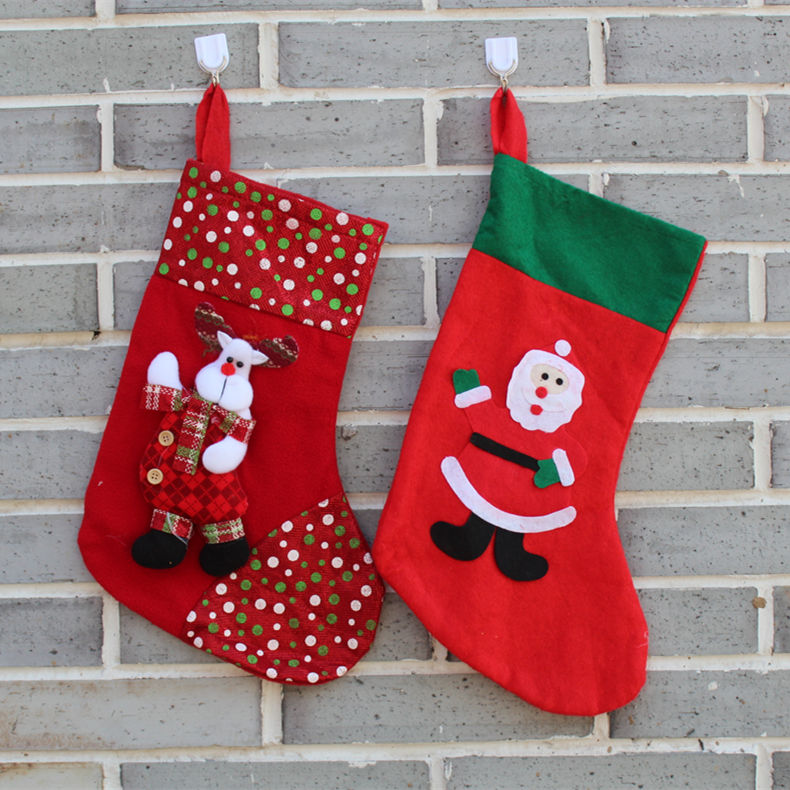 Hi string large upscale christmas christmas stockings christmas bells christmas decorations cartoon boots thick boots