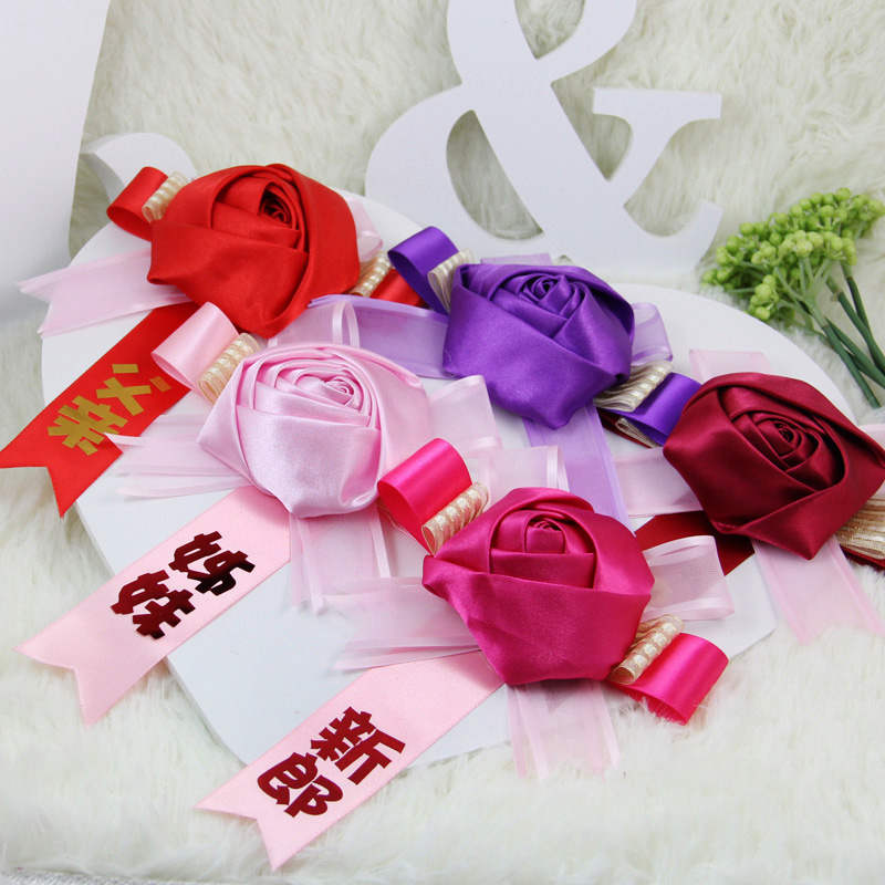 Hi to music fabric to increase the number of personalized wedding corsage wedding corsages father mother events meeting fireworks