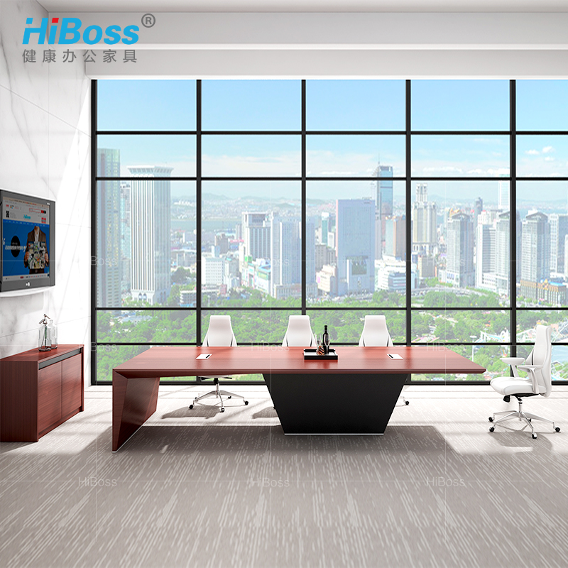 [Hiboss] president and chairman of the board room conference table meeting table conference table paint female sexual boss conference table long table