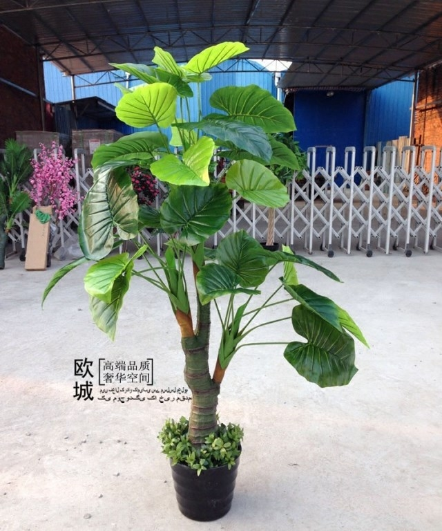 High simulation fake tree pachira large decorative fake fake flowers to decorate the living room office plants potted bonsai