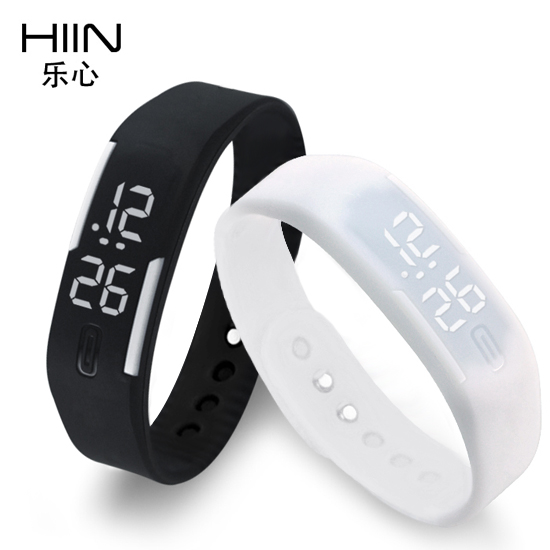 Hiin happy heart fashion students watch children watch fashion watch electronic watches korean couple sports bracelet bracelet bracelet male and female
