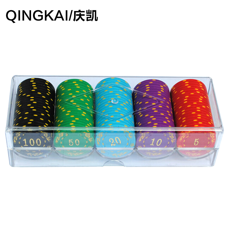 Hing kai 100 yards bronzing texas poker chips baccarat mahjong chips coins 0636 acrylic kit
