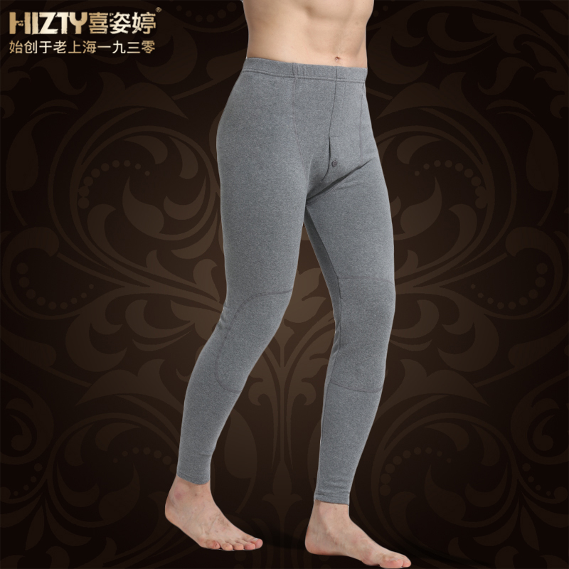 Hizty/hi ziting between china and laos youth cotton men qiuku warm pants waist thickened knee pants one piece trousers