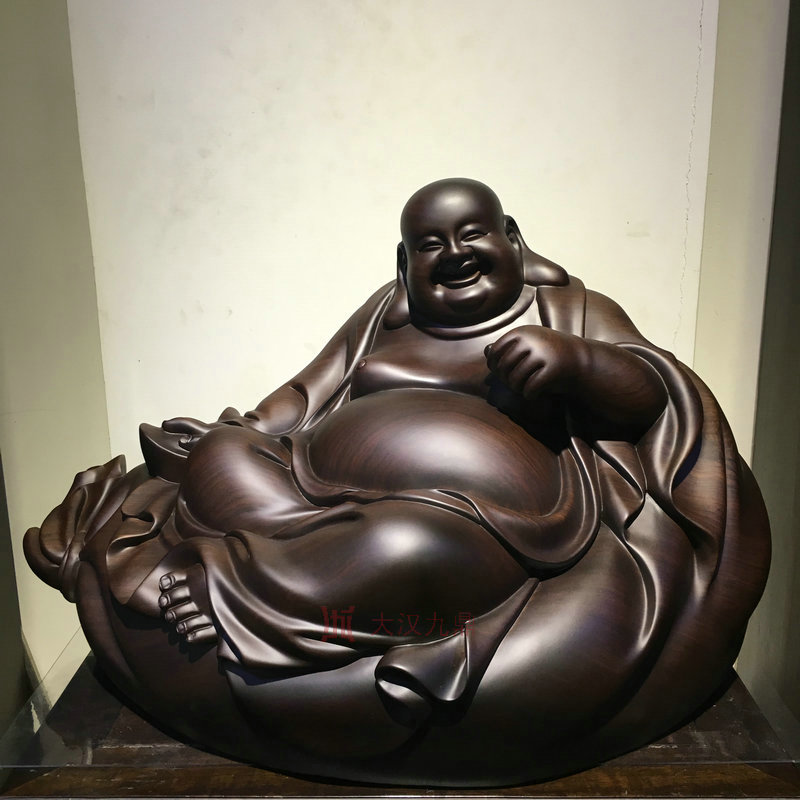 Hofman universe sit fortuna buddha belly laughing buddha maitreya ebony wood carving crafts ornaments home crafts