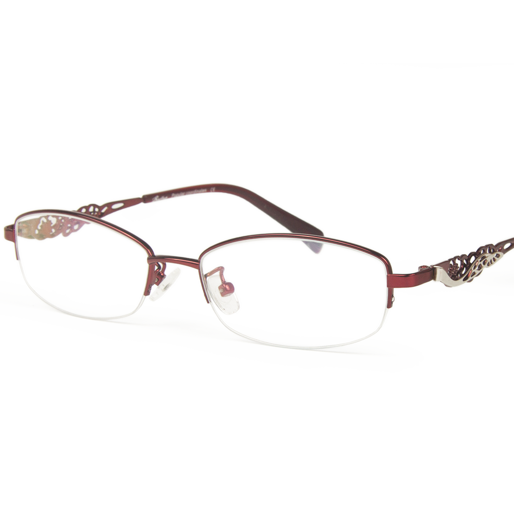 Hollow pattern temperament female models fashion glasses frame metal half frame glasses frame myopia glasses with color glasses