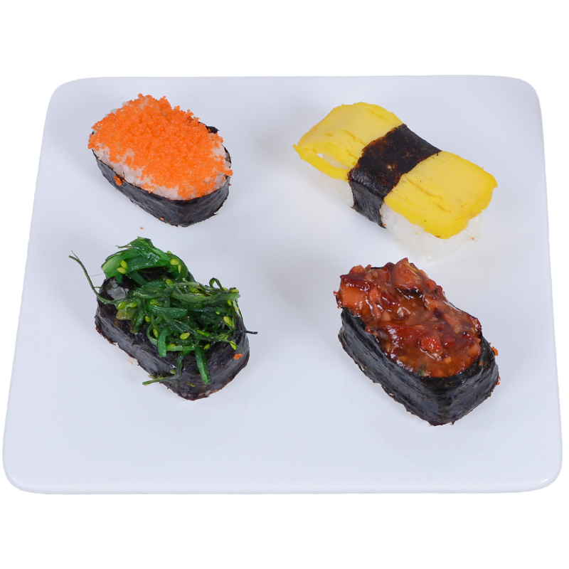 Home hotel restaurant cutlery 7/8/9/10/12 inch ceramic bone china square plate of sushi plate dish fruit plate