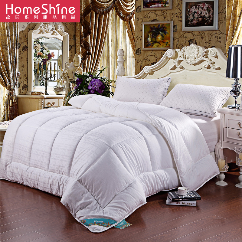 Hometown textile satin jacquard velvet feather is the core double quilt spring is winter is thick warm winter