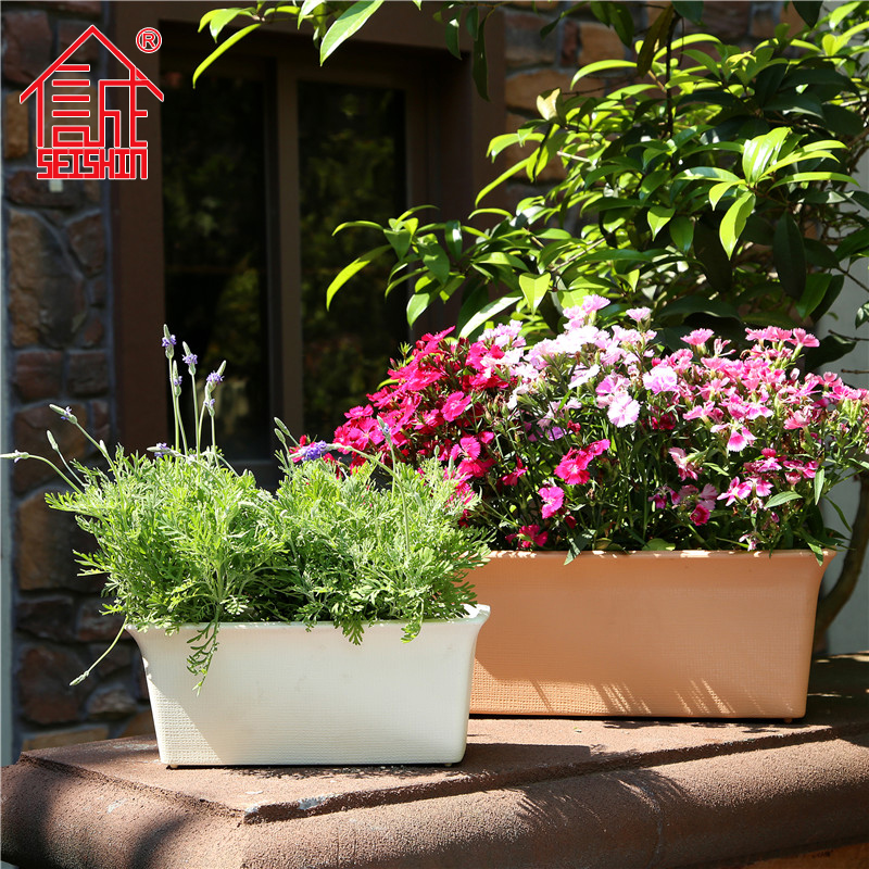 Honesty resin plastic pots pots outdoor flower pots rectangular planters planting vegetable gardening pots balcony raise