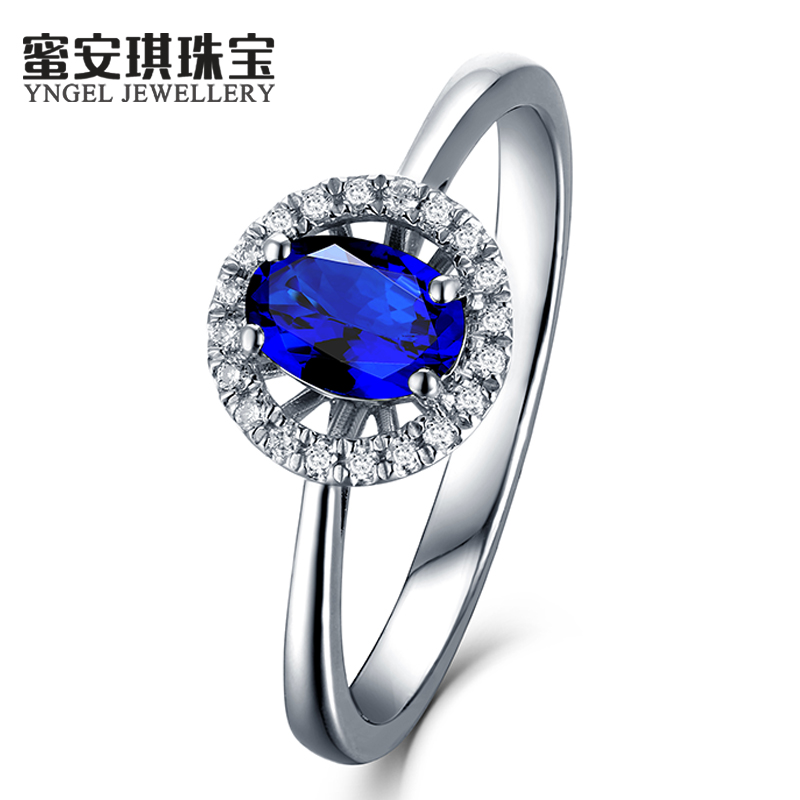 Honey angel 0.64 ~ 3.33 karat natural sapphire ring k gold ring multicolored