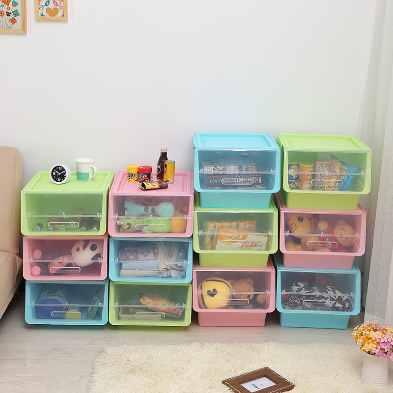 Honey honey flower before the open snack toy plastic storage box plastic sorting box cabernet box storage box can be superimposed