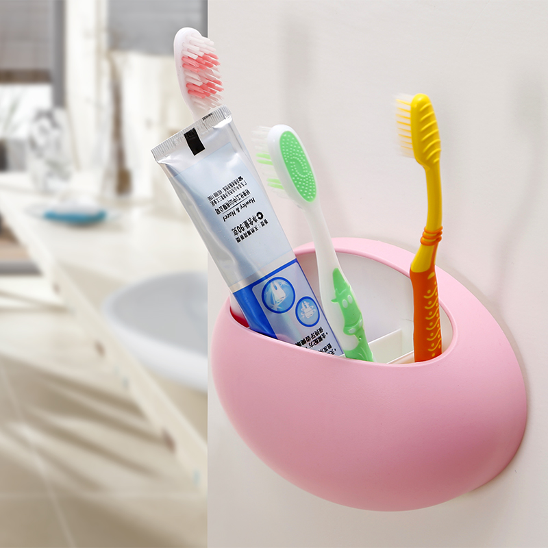 Honey honey flower toothbrush holder suction cup toothbrush holder bathroom appliances trumpet comb fashion glove storage rack