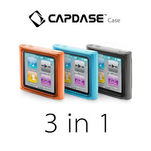 Hong kong capdase apple ipod nano 6 tricolor combination of exquisite sets of silicone sleeve to send film + dust