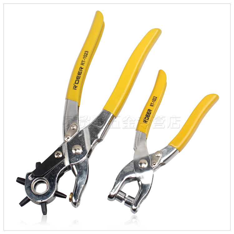 Hong kong flying deer drill the hole shoes leather eyelet pliers belt punch pliers clamp strap belt punch puncher