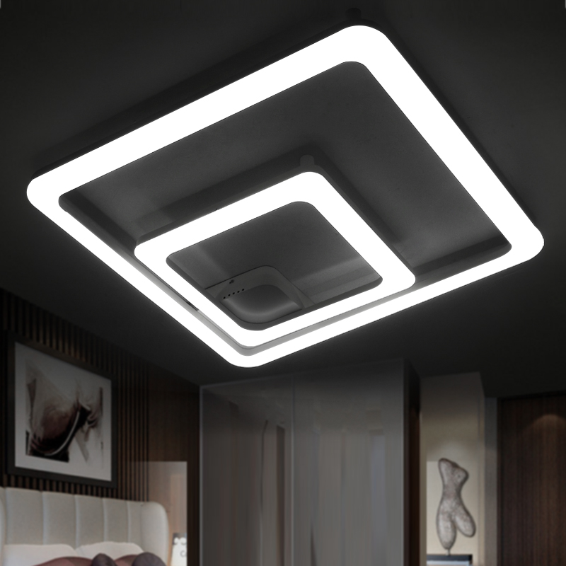 Hong kong harbor after creative fashion personality living room lights square led ceiling lamp bedroom lamp modern minimalist restaurant lighting