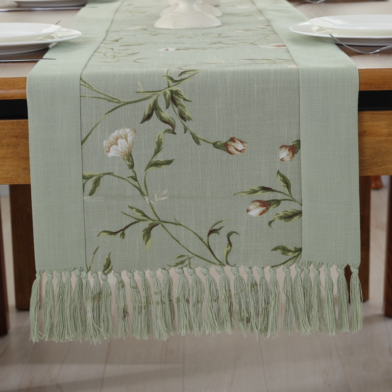 Hope accompanied by chinese cotton table runner tablecloth tv cabinet modern minimalist american bed end towel coffee table cloth table linen placemats