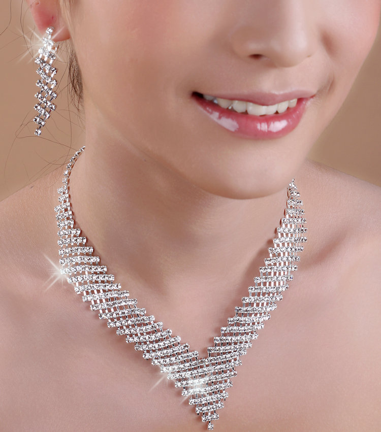 Hot bridal jewelry piece suit dress korean pearl tiara crown necklace earrings wedding accessories wedding accessories