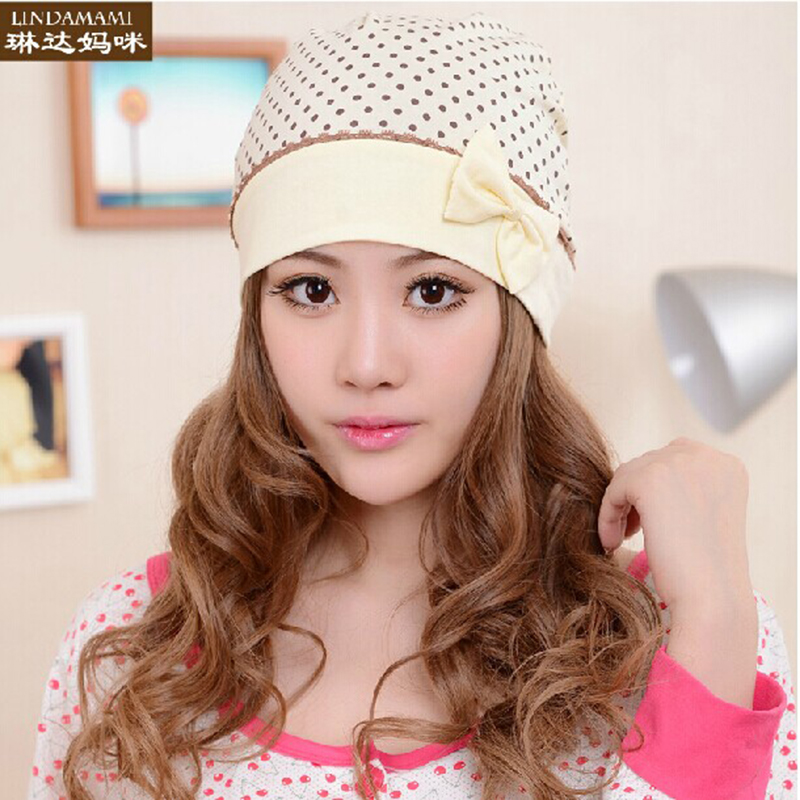 Hot models! pregnant women hat cap month of spring and autumn and winter simple cotton hat maternal postpartum windproof hat headache