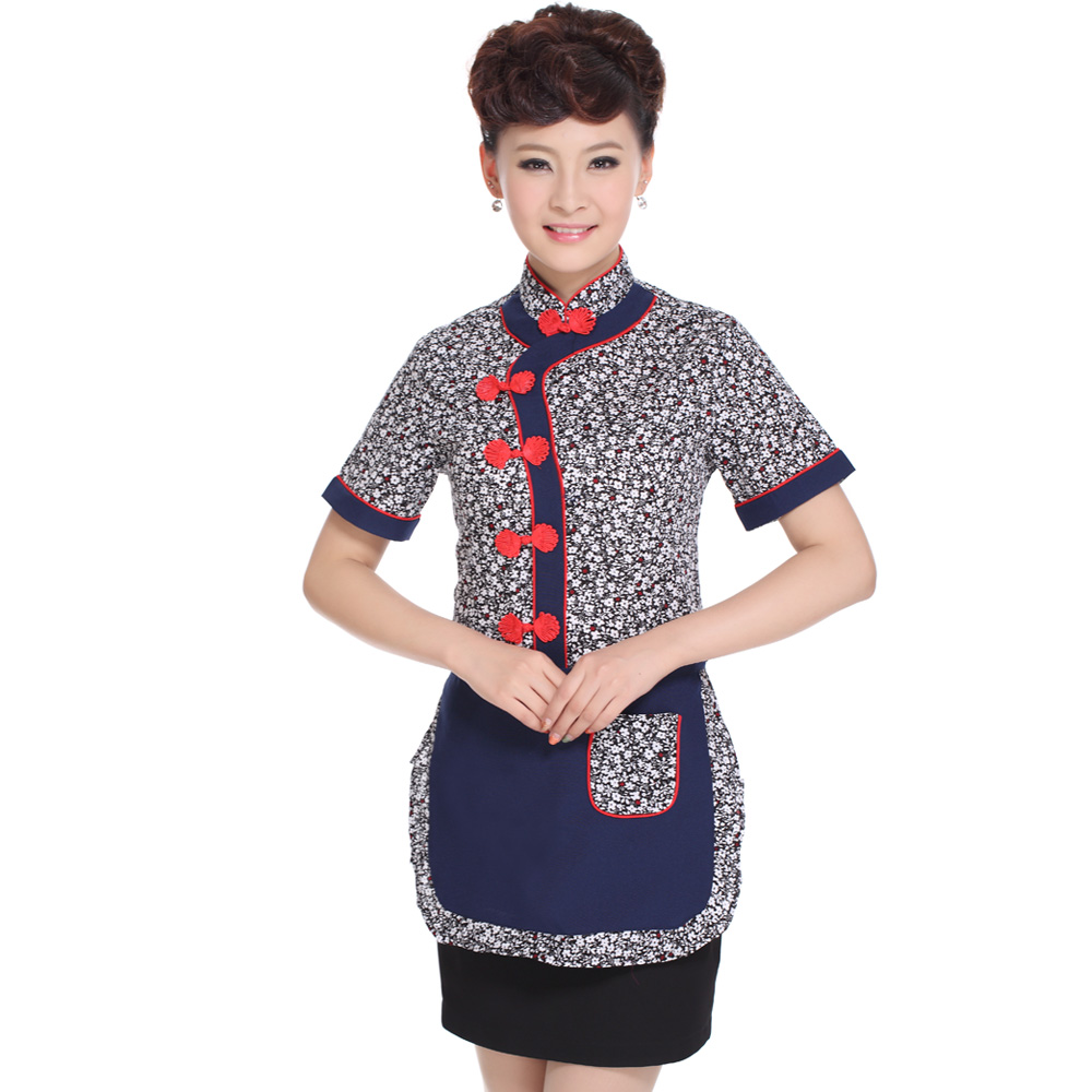Hotel uniforms female summer fast food restaurant hot pot restaurants catering uniforms farmhouse hotel restaurant waiter clothing