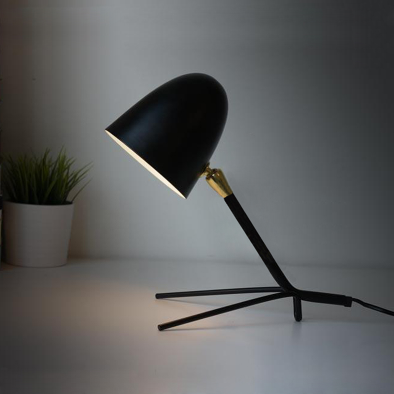 Hou song vintage wrought iron table lamp scandinavian modern minimalist personality study lamp bedroom bedside study creative ikea