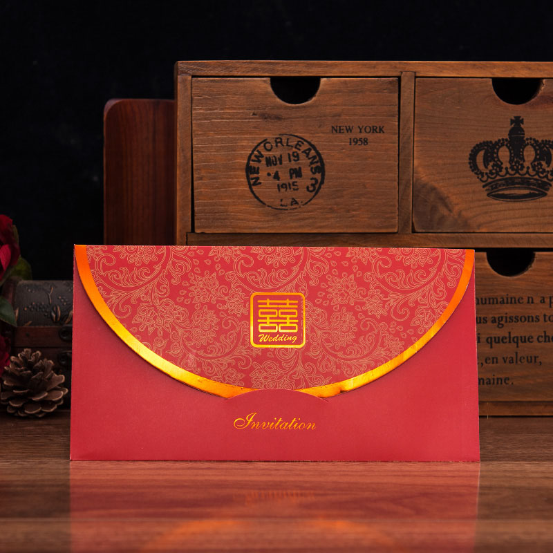 House red makeup 2016 new creative chinese style wedding invitation wedding invitations wedding invitations can be customized print