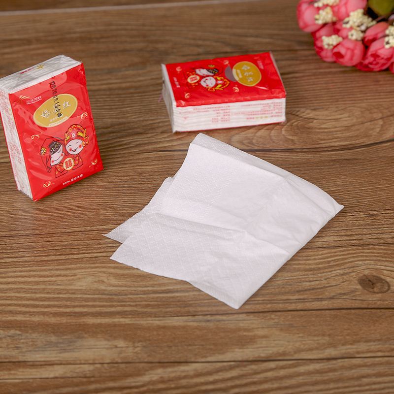 House red makeup wedding supplies wedding festive supplies wedding banquet napkins disposable paper towels paper towels