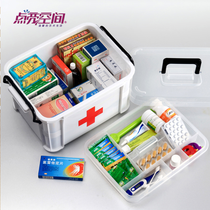Household kits large medical kits small family medicine chest medicine storage box bao jianxiang baby kits for children