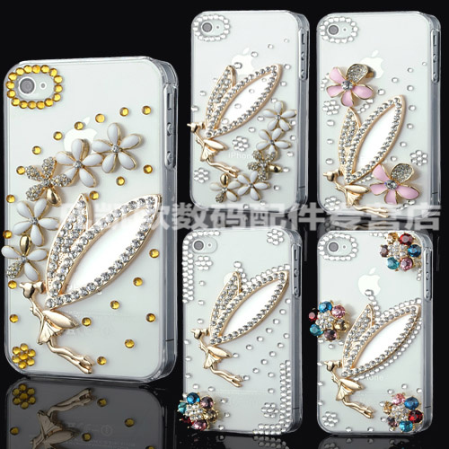Htc g15/c510e phone shell diamond Butterfly3/butterfly 3 d520 protective sleeve inlaid golden angel