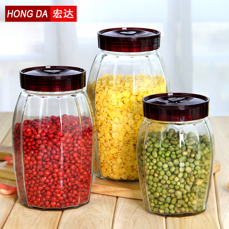 Htc unleaded glass bottles sealed cans ikea creative glass storage bottles food cans bottles of honey tea kit