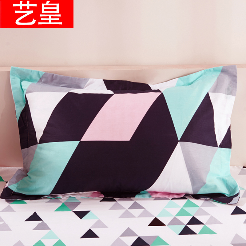 Huang yi huang yi cotton printed cotton pillowcase pillowcases one pair of dress 48 * 74cm thick single student pillowcase shipping