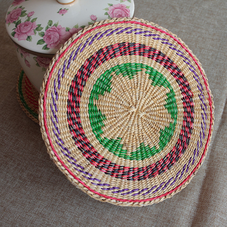 忆园huangcao jiading bamboo and rattan weaving handmade pots pots pad pad pot mat bowls mat insulation against hot cup mat