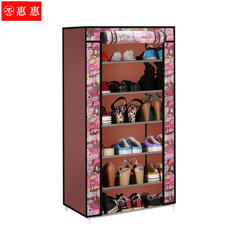 Huihui single row of 7 giga thick layer 6 home essential oxford shoe shoe rack shoe rack simple shoe special promotions