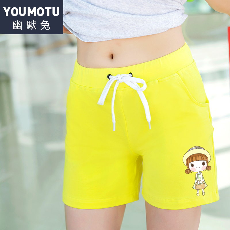 Humor rabbit 2016 new summer shorts female amoi big yards loose cotton shorts casual short pants korean version of stretch