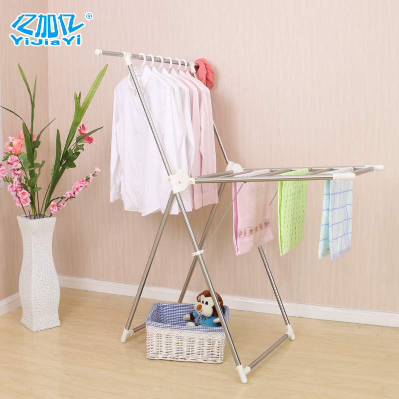 Hundreds of million plus stainless steel airfoil drying rack retractable drying rack drying racks folding balcony floor towel rack Student dormitory