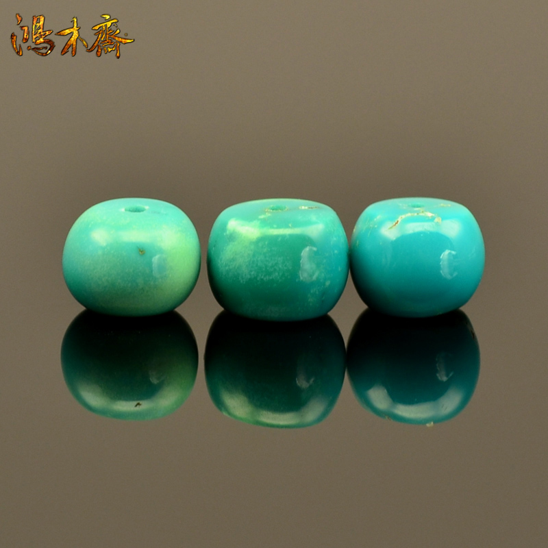 Hung vegetarian hubei cloud cover temple ore no optimization high porcelain turquoise spacer beads scattered solitary s223