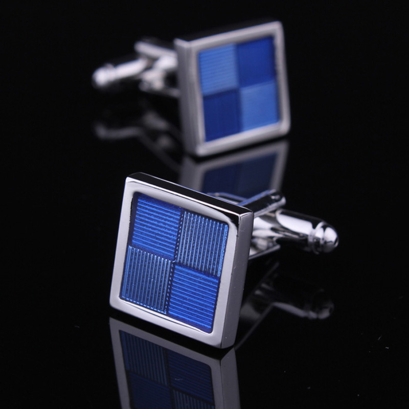 Hunting is still elite business blue enamel cufflinks for men cufflinks cuff french shirt cufflinks