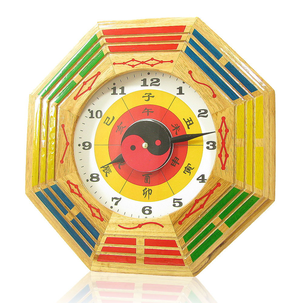 Hyun public court mahogany cherry wood crafts wall clock bell gossip lucky feng shui supplies knick knacks