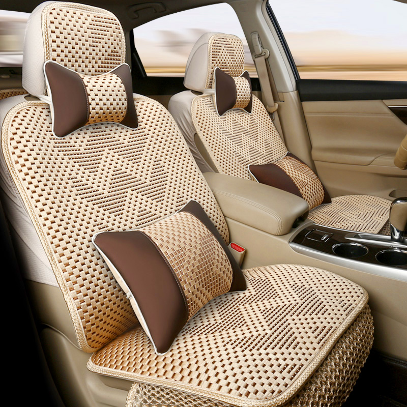 Ice silk car seat four seasons general cartoon seat cover seat cover the whole package cloth lovely spring and summer seat cover seat cover seat cover girl