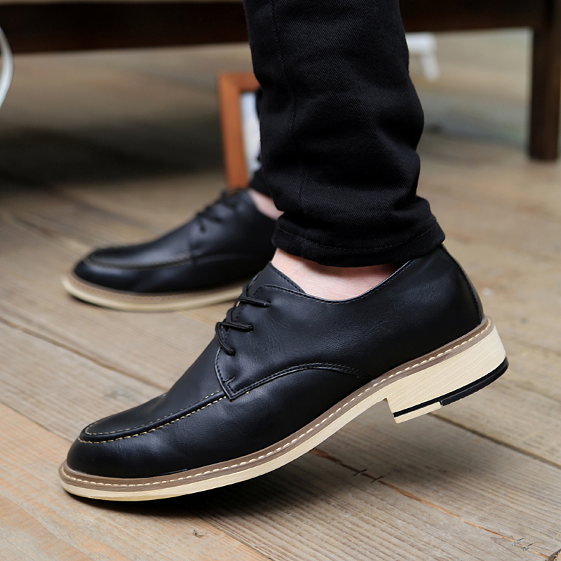 If the step spring and autumn new fashion men's casual shoes wild fashion casual shoes to help low tide breathable lace men's shoes