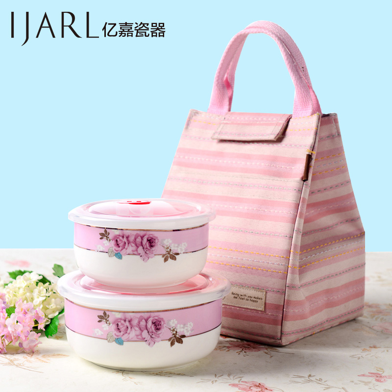 Ijarl billion ka ceramic your monthly 389-foot fei bowl of fresh bento lunch box two loaded plus a microwave lunch box cooler bag