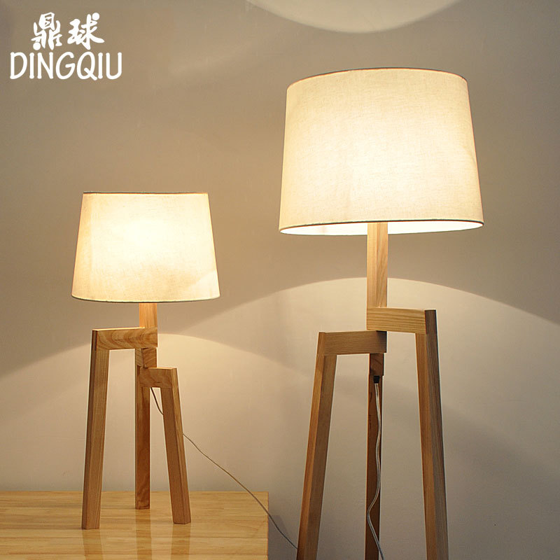 Ikea wood floor lamp creative nordic creative living room bedroom den minimalist modern floor lamp floor lamp lighting vertical
