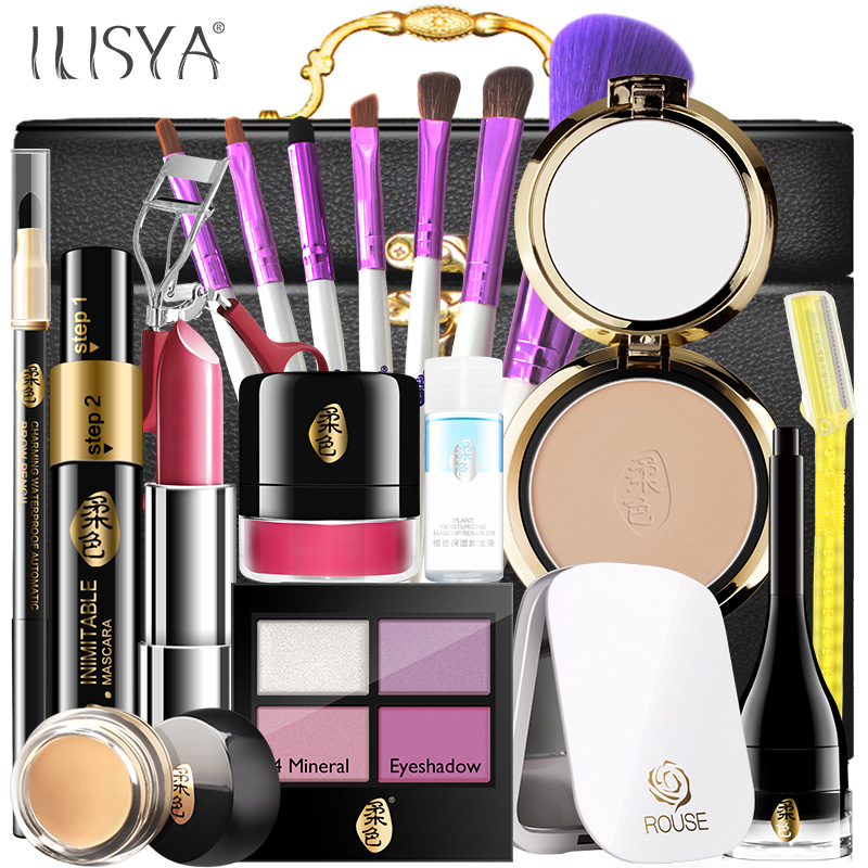 Ilisya rouse beginner bare makeup makeup cosmetics makeup set a full tool kit halloween makeup