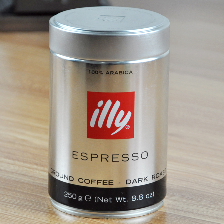Illy illy coffee powder imported italian espresso black coffee powder 250 grams of severe baking