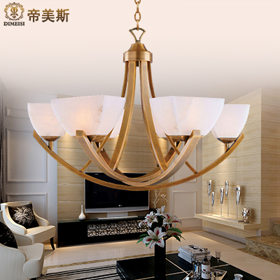 Imperial mae marble entire copper chandelier square upscale modern chinese lamps nordic ikea living room lamp shade after shade