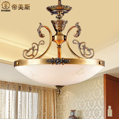 Imperial mae marble lamps all copper european classical small foyer chandelier restaurant lamps bedroom lamps study lamp porch lights