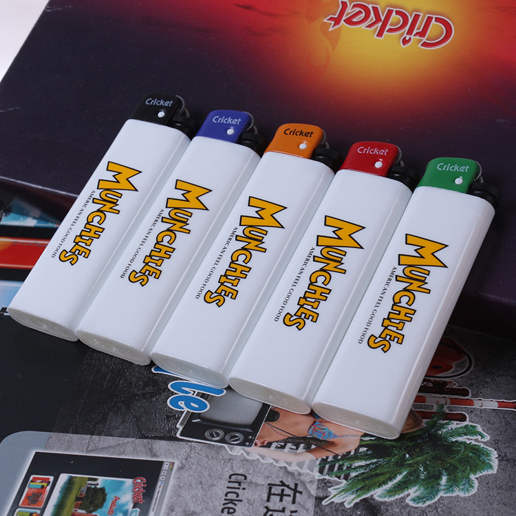 Import grasshoppers lighter gift lighters customized advertising lighters made of plastic lighters customized printing