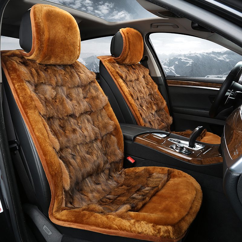Import new winter fox fur wool cushion covers benz ml400/ml320/ml300/ml 350 seat cushion